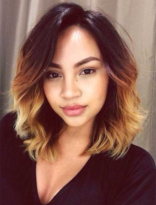 Short haircuts with blonde highlights